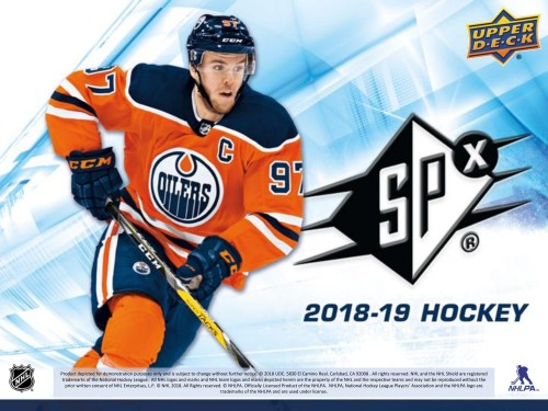 2018-19 UD SPX Hobby Box - PREORDER AVAILABLE IN STORE ONLY