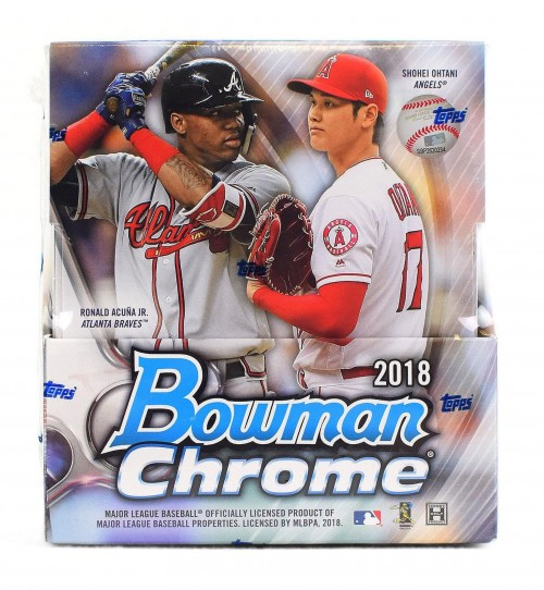 2018 Bowman Chrome Baseball Factory Sealed Hobby Box