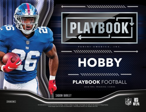 2018 PANINI PLAYBOOK FOOTBALL HOBBY BOX