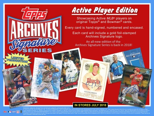 2018 Topps Archives Signature Series Baseball - Presell