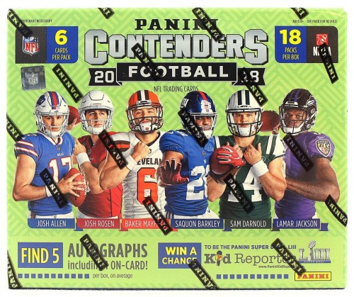 2018 Panini Contenders Hobby Football Box Factory Sealed