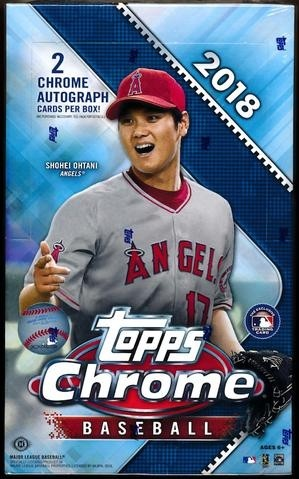 2018 Topps Chrome Baseball Factory Sealed HOBBY BOX 2 AUTOGRAPHS PER BOX
