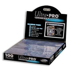 Ultra Pro Pages 9 Pocket - 100 Pack