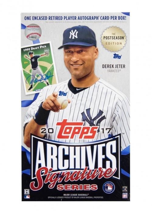 2017 Topps Archives Signature Series Post Season Baseball Hobby Box