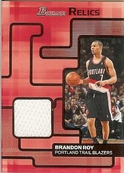2007-08 Bowman Draft Picks & Stars Brandon Roy Bowman Relics