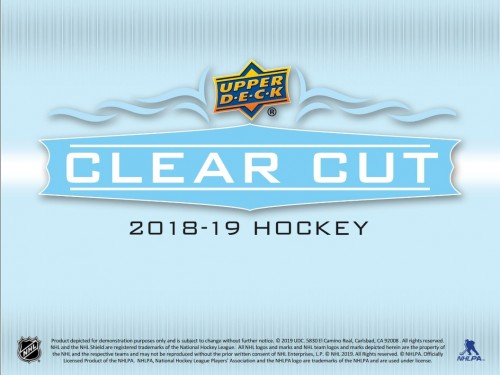 2018-19 Upper Deck Clear Cut Hockey Box factory Sealed - PREORDER AVAILABLE IN STORE ONLY