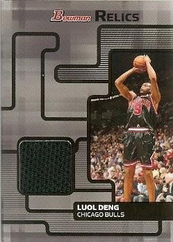 2007-08 Bowman Draft Picks & Stars Luol Deng Bowman Relics