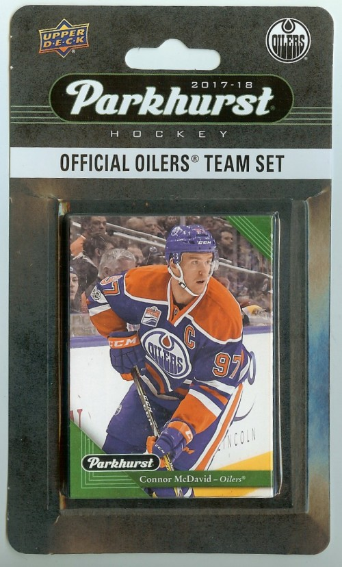 2017-18 Parkhurst Edmonton Oilers Team Set 10 Card Set