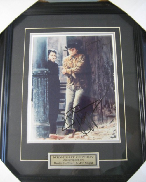 "Dustin Hoffman Jon Voight ""MIdnight Cowboy"" Autograph Framed Picture"