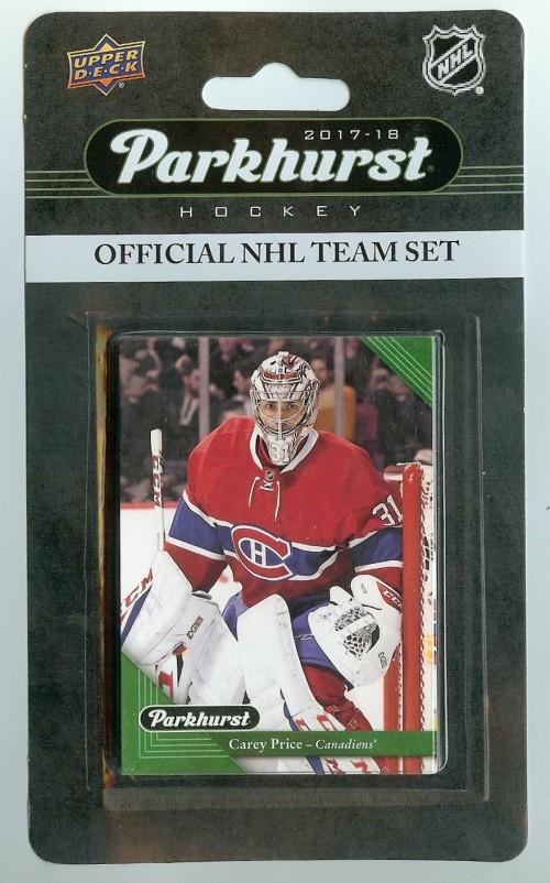 2017-18 Parkhurst Montreal Canadiens Team Set 10 Card Set