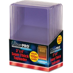 Ultra Pro 3x4 Top Loaders 130 PT Thick 10 Count Pack (5 Lot)