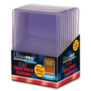 Ultra Pro 3x4 Top Loaders 180 PT Thick 10 Count Pack