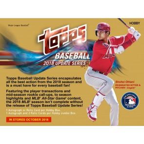 2018 Topps Update Series Baseball Hobby Box - PRESELL