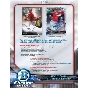 2018 Bowman Chrome Baseball Factory Sealed HTA Box - PRESELL