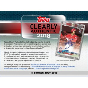 2018 Topps Clearly Authentic Baseball Hobby Box - PRESELL