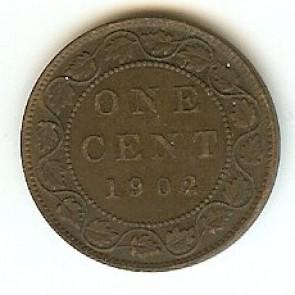 1902 Canadian Large Penny King Edward VII