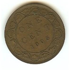1903 Canadian Large Penny King Edward VII