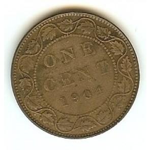 1904 Canadian Large Penny King Edward VII