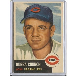 1953 Topps Bubba Church Single