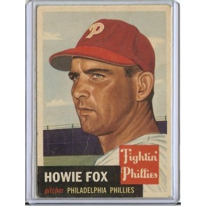 1953 Topps Howie Fox Single