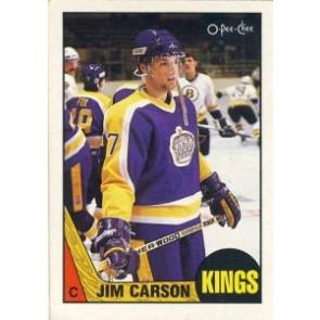 1987-88 O-Pee-Chee Jim Carson Rookie Card