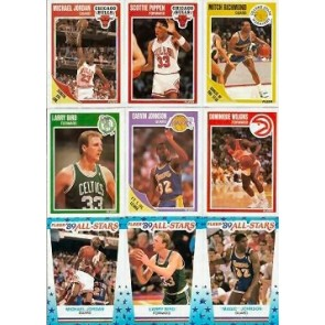 1989-90 Fleer Set including All-Star Stickers