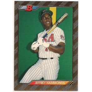 1992 Bowman Jeffrey Hammonds Single Gold Foil