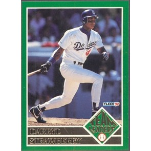1992 Fleer Darryl Strawberry Team Leaders SP