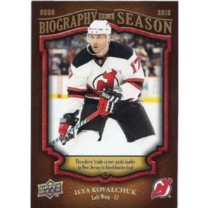 2009-10 Upper Deck Biography of a Season Ilya Kovalchuk Card# BOS-23