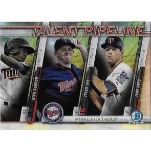 2017 Bowman Chrome Nick Gordon Tyler Jay Jake Reed TALENT PIPELINE Chrome Refractor