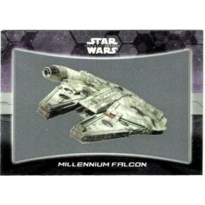 2016 Star Wars Force Awakens Chrome Ships Vehicles #1 Millennium Falcon