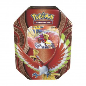 Pokemon TCG. Mysterious Powers Tins. Ho-Oh GX Tin Factory Sealed