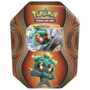 Pokemon GX Fall Tin Trading Card Game Marshadow Factory Sealed