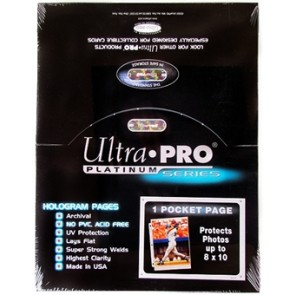 Ultra Pro Pages 1 Pocket - 100 Pack