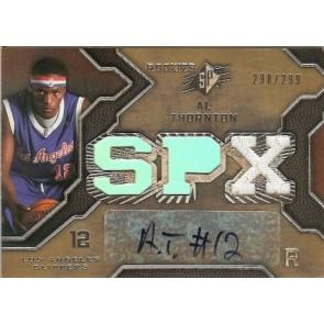 2007-08 Upper Deck SPX Al Thornton Autograph Rookie Jersey 298/299