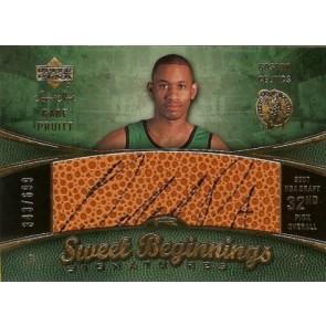 2007-08 Upper Deck Sweet Shot Gabe Pruitt Sweet Beginnings Signatures 343/699