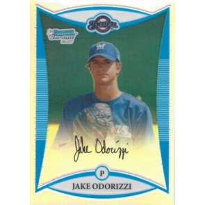 2008 Bowman Chrome Draft Picks Jake Odorizzi Refractor