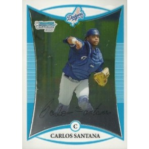2008 Bowman Chrome Prospects Carlos Santana Base Single