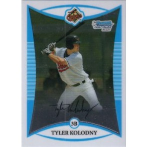 2008 Bowman Chrome Prospects Tyler Kolodny Base Single