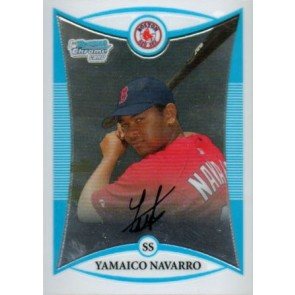 2008 Bowman Chrome Prospects Yamaico Navarro Base Single
