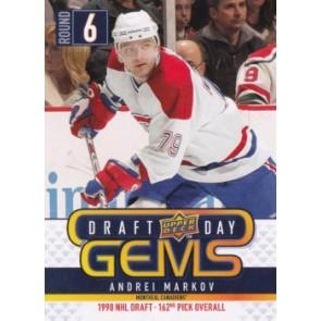 2009-10 Upper Deck Andrei Markov Draft Day Gems