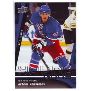 2009-10 Upper Deck Artem Anisimov Young Guns Rookie