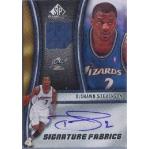 2009-10 Upper Deck SP Game Used DeShawn Stevenson Signature Fabrics