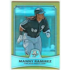 2010 Bowman Platinum Gold Manny Ramirez 117/539