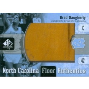 2011-12 Upper Deck SP Authentic Brad Daugherty North Carolina Floor Authentics