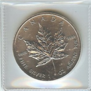 2011 CANADA Canadian MAPLE LEAF Sealed from ROYAL MINT .9999 BU SILVER Coin 1 oz