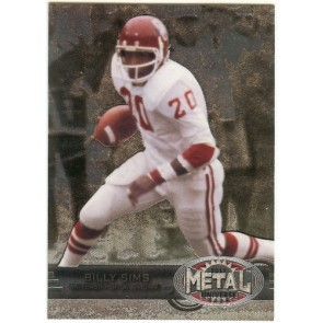 2012 Fleer Retro Billy Sims Metal Universe Base Single