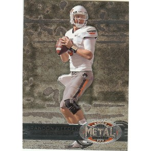 2012 Fleer Retro Brandon Weeden Metal Universe Base Single