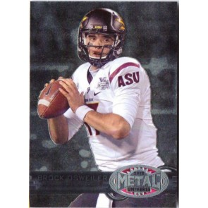 2012 Fleer Retro Brock Osweiler Metal Universe Base Single