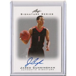 2012-13 Leaf Signature Series Jared Cunningham Autograph